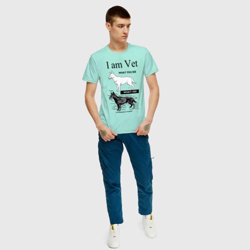 Мужская футболка хлопок I Am Vet Фото 01