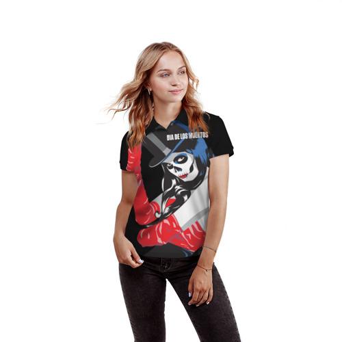 Женская рубашка поло 3D  Фото 03, День мертвецов