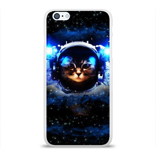 Чехол для Apple iPhone 6Plus/6SPlus силиконовый глянцевый  Фото 01, Кот космонавт
