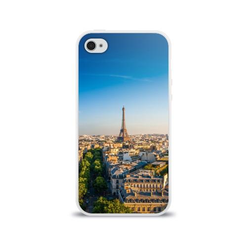 Чехол для Apple iPhone 4/4S силиконовый глянцевый  Фото 01, Paris