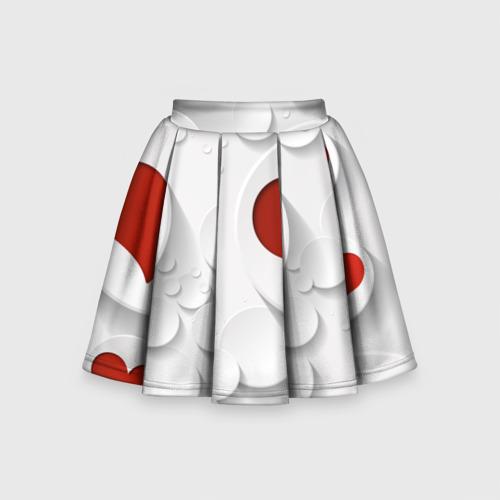 Детская юбка-солнце 3D Сердца 2