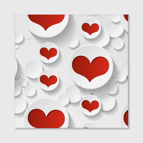 Холст квадратный  Фото 02, Сердца 2
