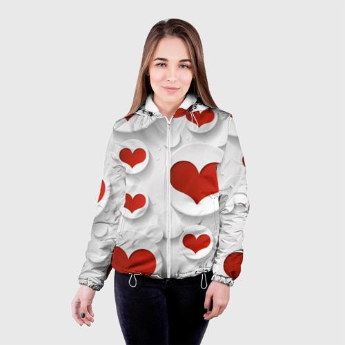 Женская куртка 3D  Фото 03, Сердца 2