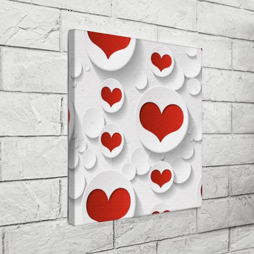 Холст квадратный  Фото 03, Сердца 2