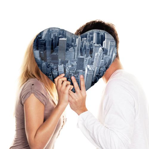 Подушка 3D сердце  Фото 03, New York