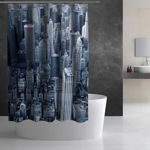 Штора 3D для ванной New York Фото 01