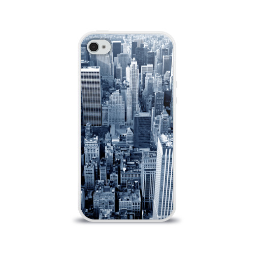 Чехол для Apple iPhone 4/4S силиконовый глянцевый New York Фото 01