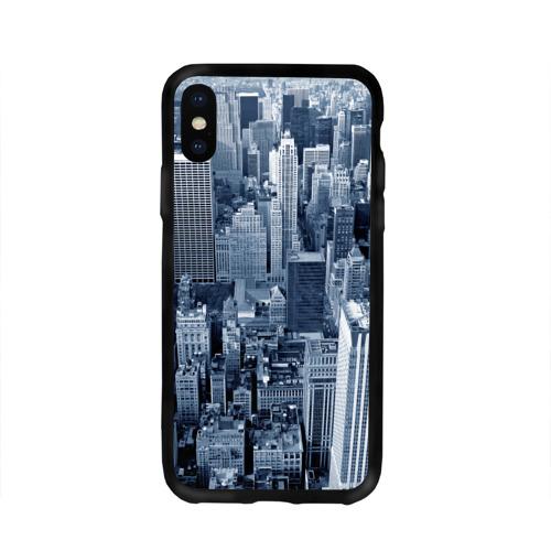 Чехол для Apple iPhone X силиконовый глянцевый New York Фото 01