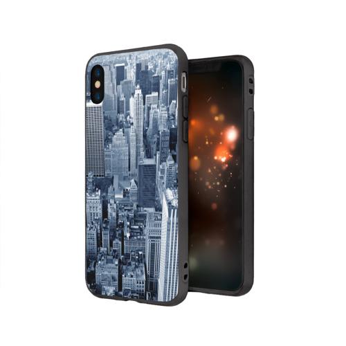 Чехол для Apple iPhone X силиконовый матовый New York Фото 01