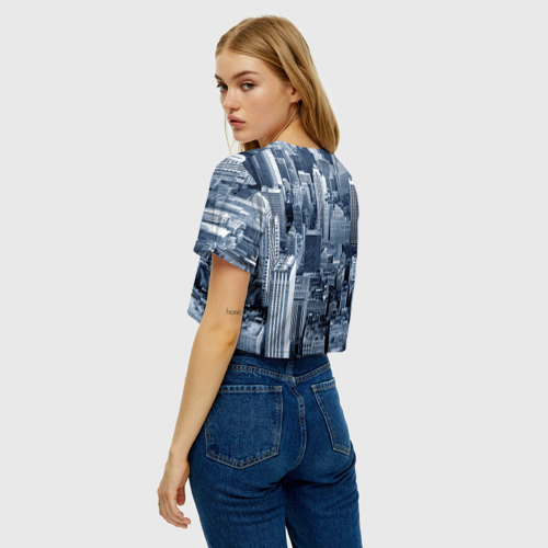 Женская футболка Crop-top 3D New York Фото 01