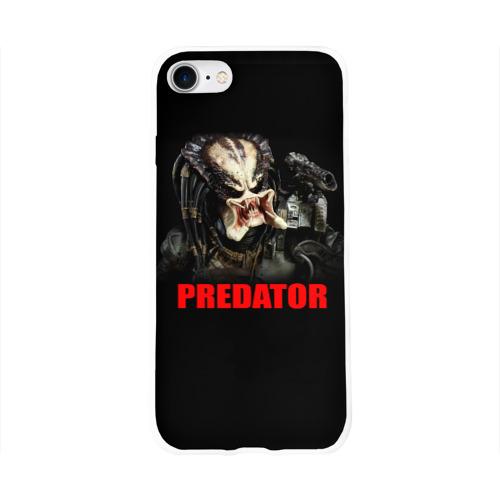 Чехол для Apple iPhone 8 силиконовый глянцевый  Фото 01, Predator