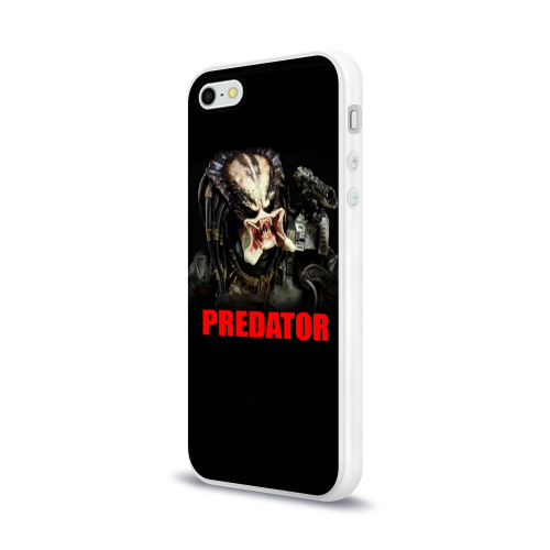 Чехол для Apple iPhone 5/5S силиконовый глянцевый  Фото 03, Predator