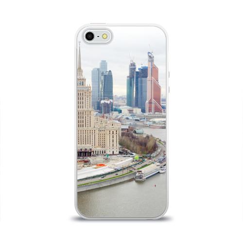 Чехол для Apple iPhone 5/5S силиконовый глянцевый  Фото 01, Москва-Сити