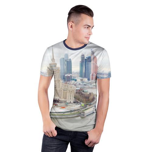 Мужская футболка 3D спортивная  Фото 03, Москва-Сити