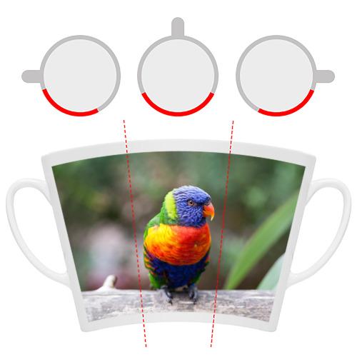 Кружка Латте  Фото 06, Попугай
