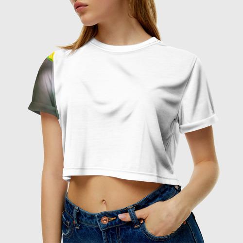Женская футболка 3D укороченная  Фото 01, Попугай