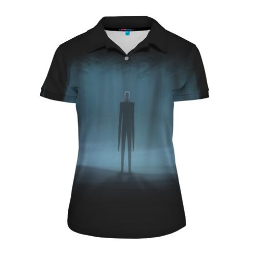 Женская рубашка поло 3D Слендермен Slender man