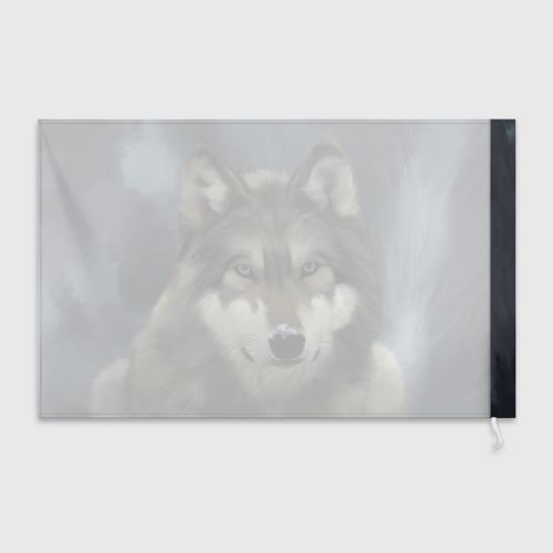 Флаг 3D Картина волк Фото 01