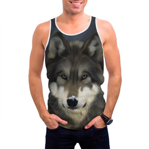 Мужская майка 3D  Фото 03, Картина волк