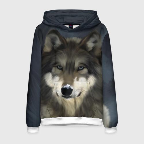 Мужская толстовка 3D Картина волк Фото 01