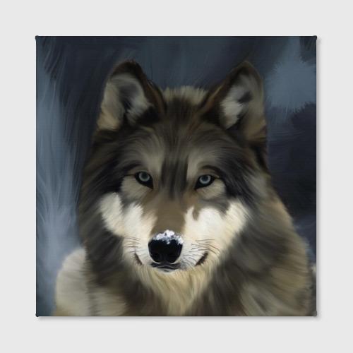 Холст квадратный  Фото 02, Картина волк