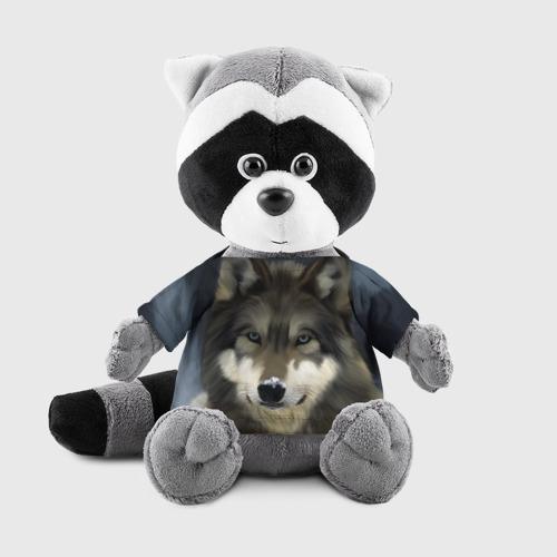 Енотик в футболке 3D Картина волк Фото 01