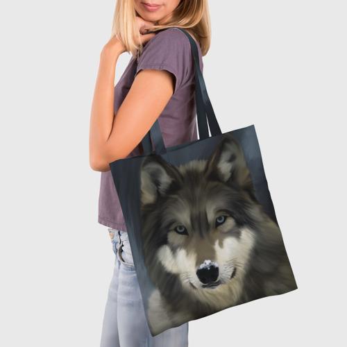 Сумка 3D повседневная Картина волк Фото 01