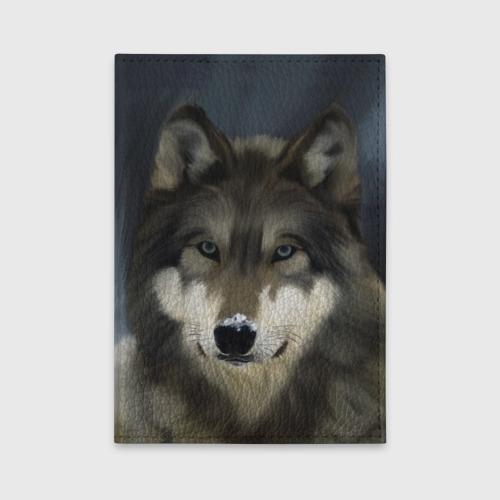 Обложка для автодокументов Картина волк Фото 01