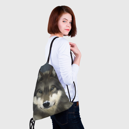 Рюкзак-мешок 3D Картина волк Фото 01