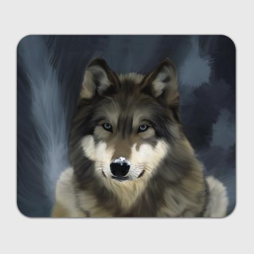 Коврик для мышки прямоугольный Картина волк Фото 01