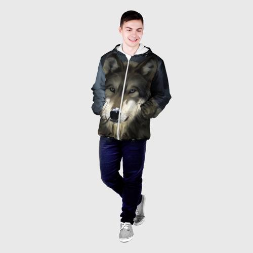 Мужская куртка 3D Картина волк Фото 01