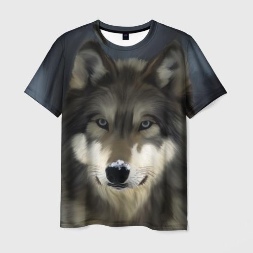 Мужская футболка 3D  Фото 01, Картина волк