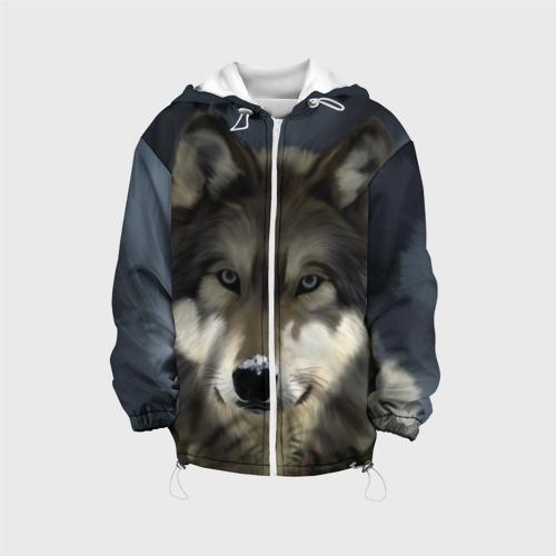 Детская куртка 3D Картина волк Фото 01