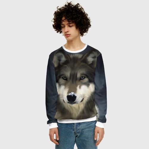Мужской свитшот 3D Картина волк Фото 01
