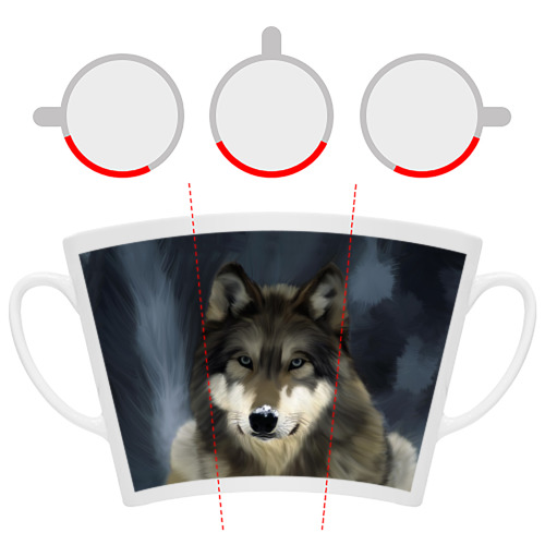 Кружка Латте Картина волк Фото 01