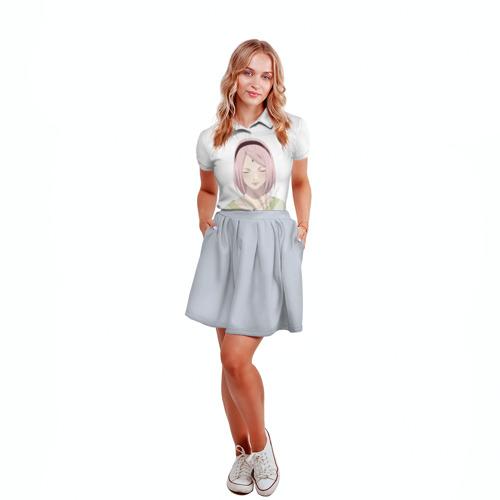 Женская рубашка поло 3D  Фото 04, Взрослая Сакура Харуно