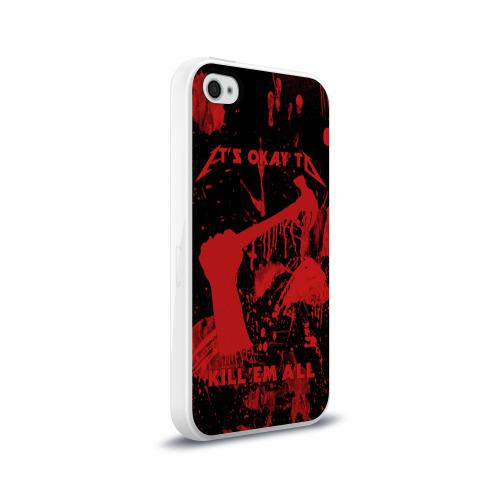 Чехол для Apple iPhone 4/4S силиконовый глянцевый  Фото 02, Kill 'Em All