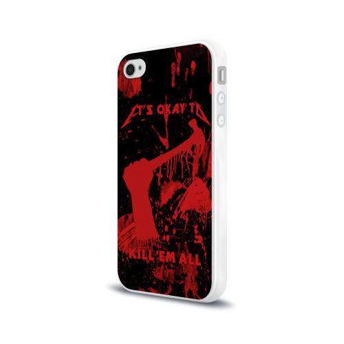 Чехол для Apple iPhone 4/4S силиконовый глянцевый  Фото 03, Kill 'Em All