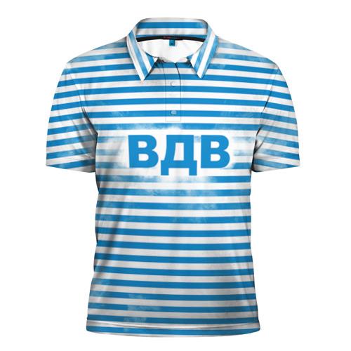 Мужская рубашка поло 3D  Фото 01, ВДВ