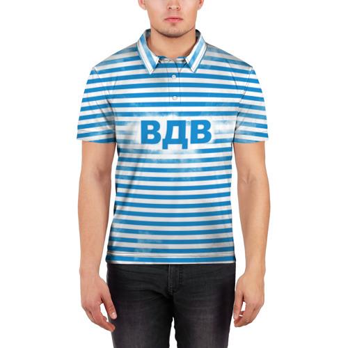 Мужская рубашка поло 3D  Фото 03, ВДВ
