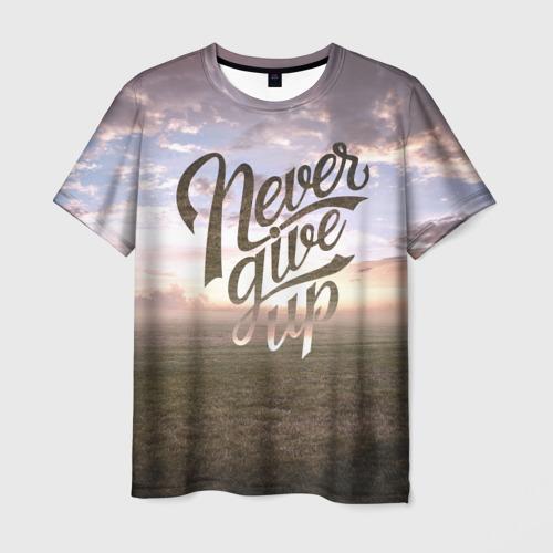Мужская футболка 3D Никогда не сдавайся!