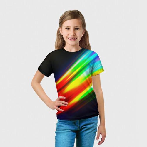 Детская футболка 3D Цветные блики Фото 01