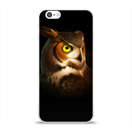 Чехол для Apple iPhone 6 силиконовый глянцевый  Фото 01, Сова
