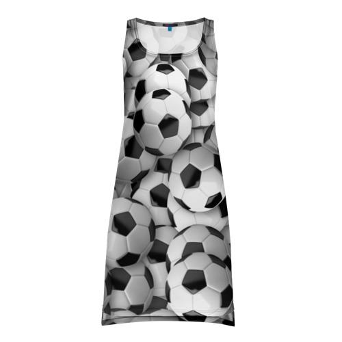 Платье-майка 3D Футбольные мячи