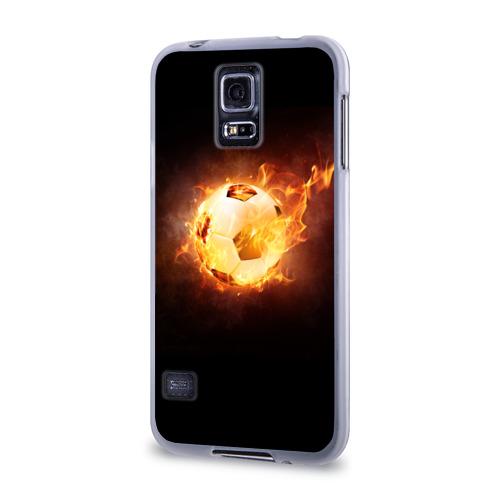 Чехол для Samsung Galaxy S5 силиконовый  Фото 03, Огненный мяч