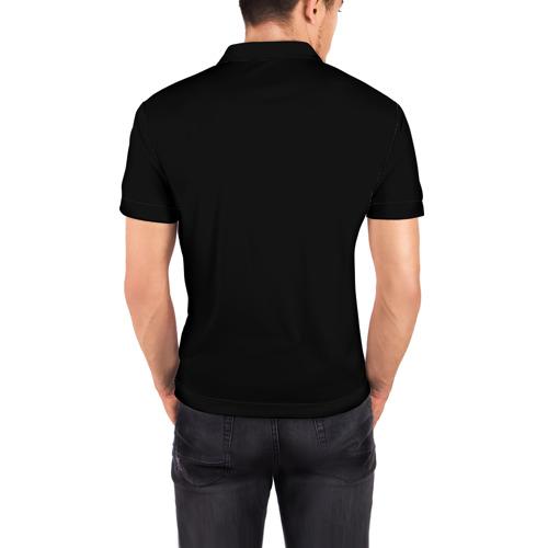 Мужская рубашка поло 3D  Фото 04, Огненный мяч