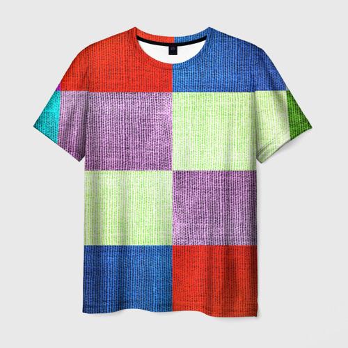 Мужская футболка 3D  Фото 01, Лоскутное шитье