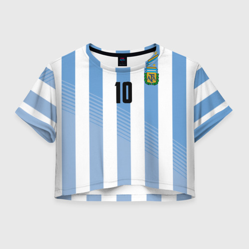 Женская футболка Cropp-top Месси (сборная Аргентины)