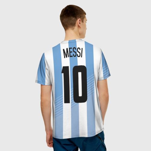 Мужская футболка 3D  Фото 02, Месси (сборная Аргентины)