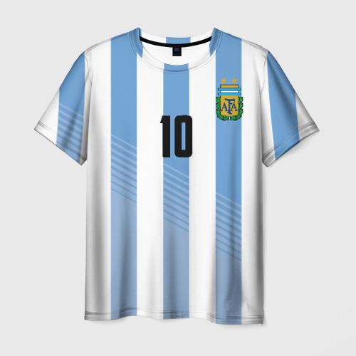 Мужская футболка 3D  Фото 01, Месси (сборная Аргентины)